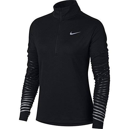Nike Women's Dry Element Flash Running Top Black/Anthracite Size X-Large