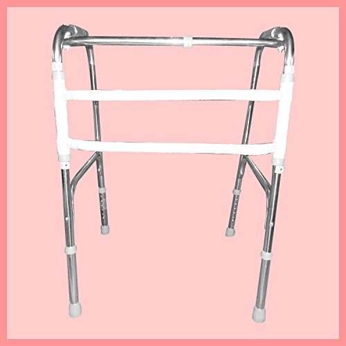 Walker Stainless Steel folding Telescopic Adjustment of The Elderly Four - Foot Walker Walker by jiaminmin
