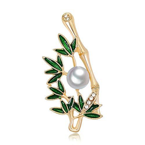 Elegant Bamboo Enamel Lapel Pin Brooch Gift Fashion Jewelry