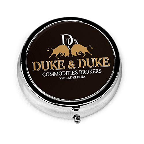 Trading Places Duke and Duke (1) Portable 3 Grid Pill Box Vitamin Storage Box for Pockets Daily Needs and Travel