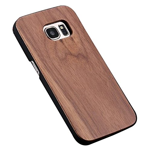 Hayder Samsung Galaxy S7 Case Unique Solid Wood Hand-Made Natural Shockproof Hard Cover Case For Galaxy S7 (Walnut Wood) (Walnut Dress Wood)