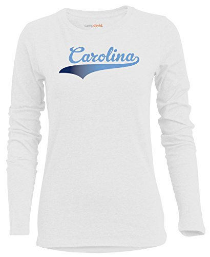 - NCAA North Carolina Tar Heels Women's BFF 2 Long Sleeve Crew Neck Tee, X-Large, White