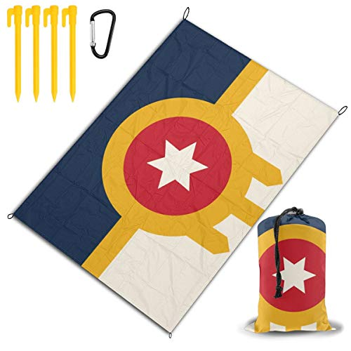 RZM YLY Tulsa Flag Outdoor Camping Picnic Blanket Waterproof for Hiking,Park, Party, Lawn,Beach]()