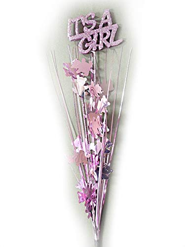 - Party Deco 3 Pcs It's a Girl Pink Bears Onion Grass Spray Metallic Pick 24 inches Long