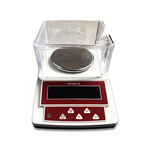 Fristaden Lab Digital Precision Balance Scale | 1000g Capacity and 0.01g Accuracy | Measures Grams, Ounces, Pounds and Carats | Count and Weigh Powders, Herbs, Jewelry, Precious Metals and More