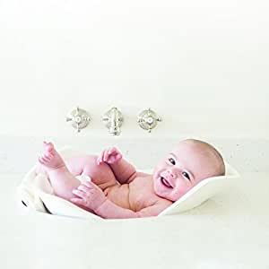 Puj Tub - The Soft, Foldable Baby Bath Tub (White)