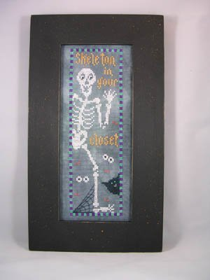 Skeleton In Your Closet Cross Stitch Chart