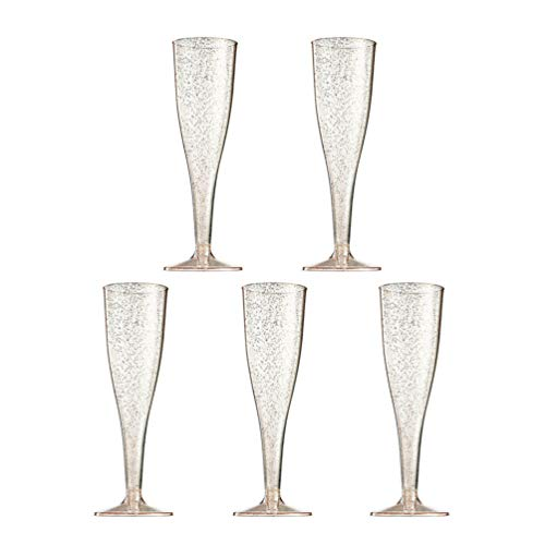 TOYANDONA 5pcs Plastic Goblets Disposable Champagne Cups Cocktail Cups for Party Supplies