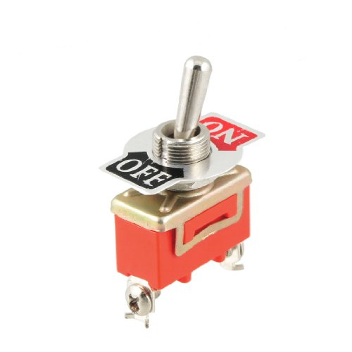 Uxcell a12102200ux0915 SPST Two Terminals Toggle Switch, AC 250V 15 Amp, ON/OFF 2 Position
