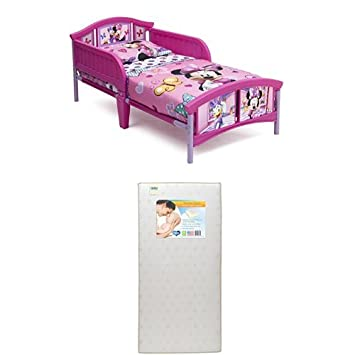 Delta Children Plastic Toddler Bed Disney Minnie Mouse With Twinkle Stars Crib Mattress