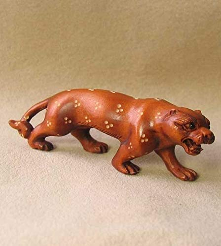 Spots Leopard Hand Carved & Signed Boxwood Ojime for Jewelry Making 9143AD