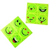 4 Set Safety Night Driving Car Styling Warning Auto Car Stickers Reflective Sticker Face Decals Hi Viz Reflective High Visibility Bike Bicycle Stickers Happy Smile For Sale