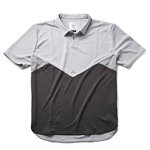 SHIELDS(シールズ) フットゴルフ シャツ 半袖 TREK & TURF ドライメッシュ ポロシャツ 18-A-P01-01 グレー/チャコールグレー XXL