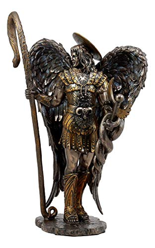 Ebros Large Saint Raphael The Archangel Holding Healing Staff Statue 13