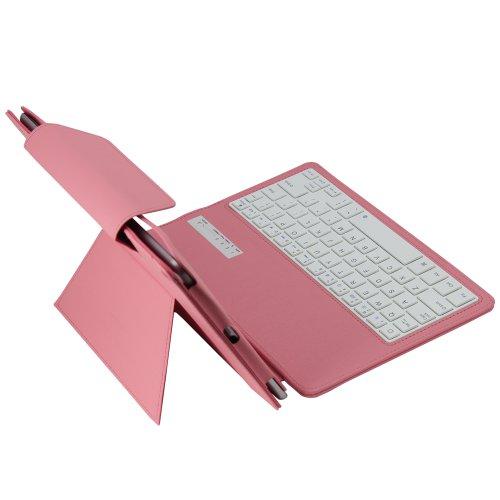 Koolertron Funda con ABS teclado Inalámbrico BLUETOOTH 3.0 (Teclado QWERTY)+ Enchufe a prueba de polvo + Pluma mejo especial estuche de Oracle para Apple iPad Air iPad