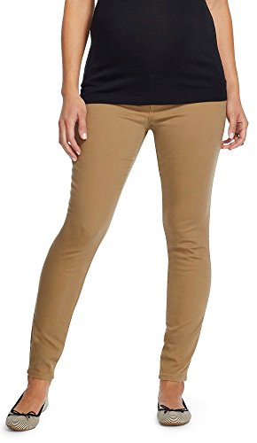6454208374274 Masked Brand Liz Lange Maternity Under The Belly Jeggings (XX-Large, Khaki)