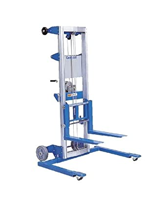 "Genie Lift, GL- 8, Straddle Base - Heavy-Duty Aluminum Manual Lift, 400 lbs Load Capacity, Lift Height 10' 0.5"" from Ground Level"
