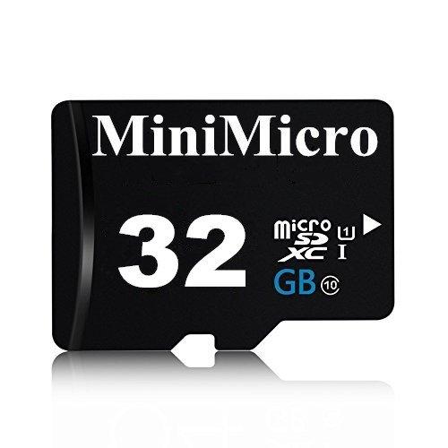 MiniMicro 32GB Class 10 Micro SDXC Memory Card with SD Adapter (32GB)