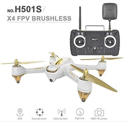 VANGOOG Hubsan H501S(Professinal) X4 FPV(生中継 動画 リアルタイム) GPS 1080P HD カメラ RC ドローン ラジコン クアッドコプター マルチコプター (ホワイト)の商品画像