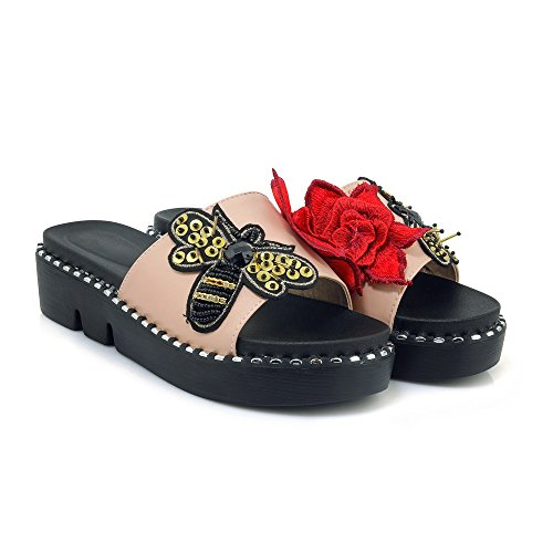Casual Flip Amp;x Sandalo Donna Flop Heel Chunky Rosa Ib7gyvY6f