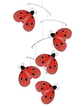Amazon.com : Mariquita Mobile Red Black Shimmer Nylon ...