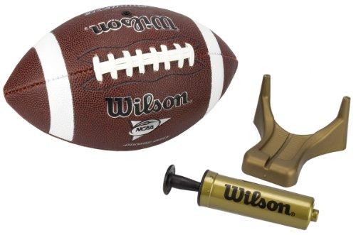 Wilson-NCAA-Supreme-Junior-Football-with-Pump-Tee