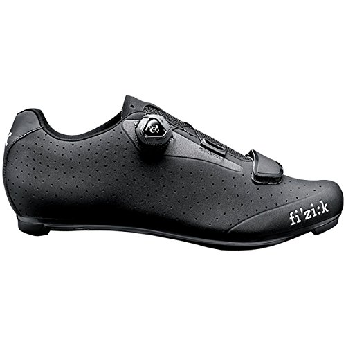 Black Mens Bike Shoes - Fizik R5 Uomo - BOA - Black/Dark Gray 45/11 1/2 Mens Shoes Bike/Cycling