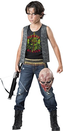 InCharacter Zombie Hunter Costume, Black/Gray, Small -