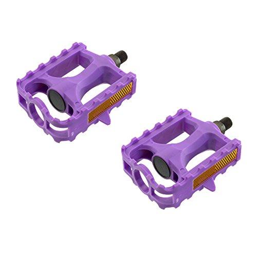 """Fenix Plastic 543 MTB Bike Pedals, Various Sizes and Colors (Purple, 1/2"""")"""