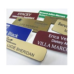 engraved name tags custom