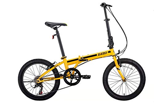 "ZiZZO EuroMini Ferro 20"" 29 lbs Light Weight Folding Bike (Yellow)"