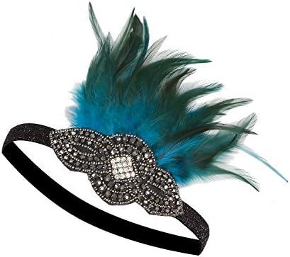 Vijiv Headpiece Vintage Headband Flapper