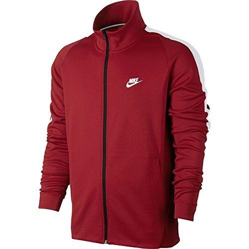 NIKE Men's Sportswear N98 Jacket Tough Red/White/White Large