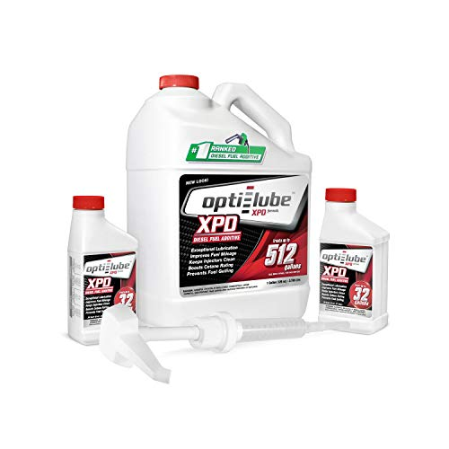 Opti-Lube XPD Formula All Seasons Diesel Fuel Additive: 1 Gallon with Accessories (1 hand pump & 2 empty 8oz bottle) Treats up to 512 Gallons (Best Way To Treat Rust)