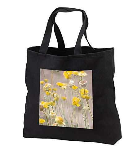 Jos Fauxtographee- Wild Yellow Flowers Accented - Wild Yellow flowers on stems with an accented edge - Tote Bags - Black Tote Bag JUMBO 20w x 15h x 5d (tb_291093_3)