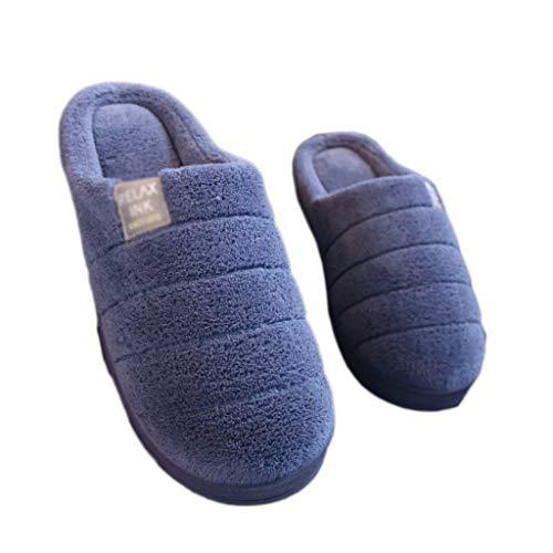 Paket Plüsch Pantoffeln Hausschuhe Baumwolle Slip mit Niedlichen Home Männer 44 Bottom Dicken Warme Blau Blau Hausschuhe Cartoon AMINSHAP Indoor 45EU größe Paar Farbe rW4zOnqWIZ