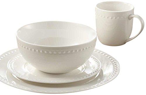 Safdie & Co. Dinnerset Premium Dinnerware Set, 16Pcs, White