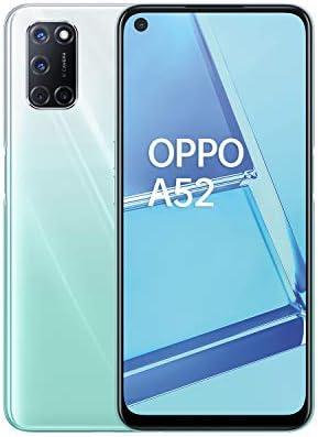 "OPPO A52 Smartphone , Display 6.5"" LCD, 4, Fotocamere,64GB Espandibili, RAM 4GB, Batteria 5000mAh, Dual Sim, 2020 [Versione italiana], Stream white"