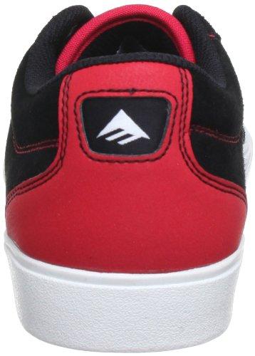 Emerica THE FLICK 6102000073 - Zapatillas de cuero para hombre Negro (Schwarz (Black/Red))