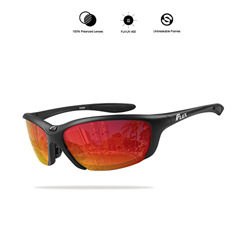 Around Slip (Flux Unisex Polarized No Slip Outdoor Sports Sunglasses with 100% UV Protection - CA3644)