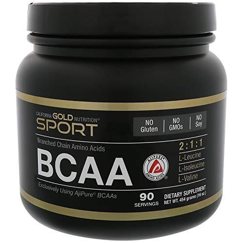 California Gold Nutrition, BCAA, AjiPure, Branched Chain Amino Acids Powder, 16 oz (454 g), Milk-Free, Egg-Free, Fish Free, Gluten-Free, Shellfish Free, Soy-Free, Sugar-Free, Wheat-Free, CGN