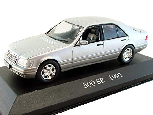 Mercedes-Benz 500 SE W140 Silver 1997 Year German Flagship Sedan 1/43 Collectible Model Vehicle Fuel Injection Engine Car by Automotive Manufacturer Mercedes-Benz
