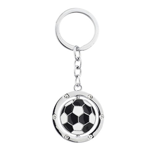 Lux Accessories Silver Tone Soccer Ball Sports Black and White ()