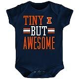 NCAA Illinois Illini Newborn & Infant Tiny But Awesome Bodysuit, Navy, 12 Months