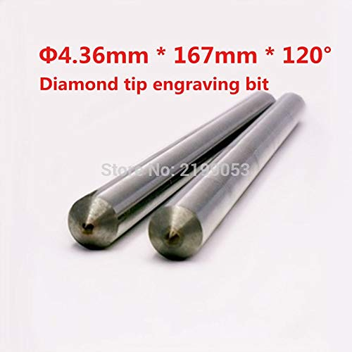 1 piece 4.36mm 167mm length 120 degree Diamond drag engraving bit metal engraving point diamond tipped drag engraver bit 1pc