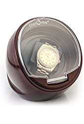Diplomat Single Burgundy Watch Winder with Built-In IC Timer