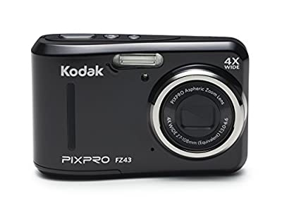 "Kodak PIXPRO Friendly Zoom FZ41 16 MP Digital Camera with 4X Optical Zoom and 2.7"" LCD Screen (Red)"