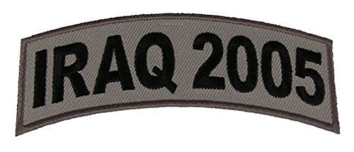 IRAQ 2005 TAB DESERT ACU TAN ROCKER PATCH - Veteran Owned Business.