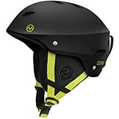 ASTM CERTIFIED SAFETY Ski helmet built for both comfort and safety. Equipped with REINFORCED ABS SHELL & SHOCK-ABSORBING EPS CORE.CHOOSE BETWEEN 9 DIFFERENT COLOR OPTIONS Sleek design available in 9 different color combinations for you to...