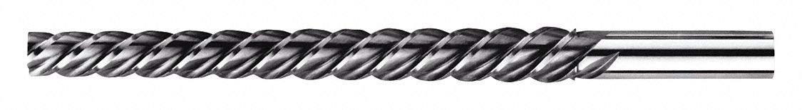 Spiral Flute, Taper Pin Reamer, Size #4, 0.2600 Decimal Equivalent